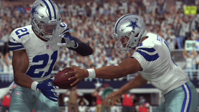 Ezekiel Elliott and Dak Prescott in EA SPORTS Madden NFL 17